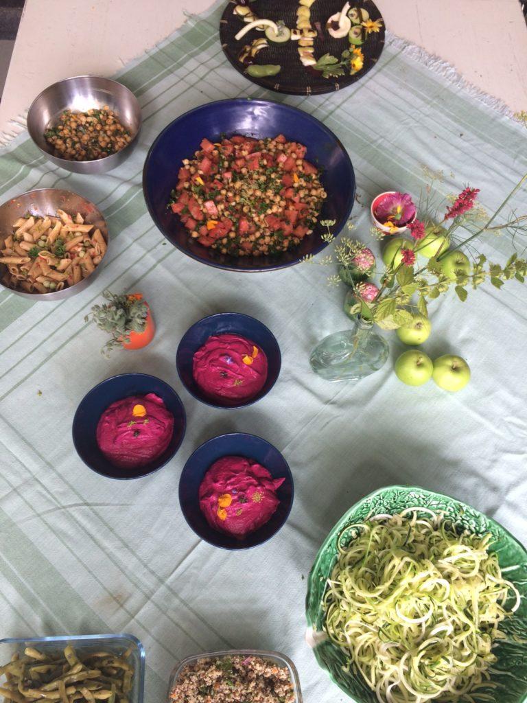 atelier cuisine vivante buffet coloré